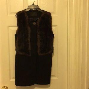 Ladies black wool vest